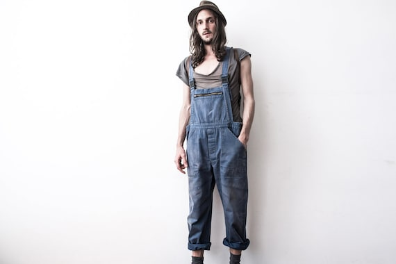 Herringbone Work dungarees 60s Workers Overall Co… - image 4