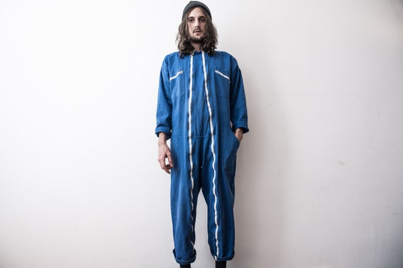 French Work Jumpsuit Retro 70s Coverall WorkWear O