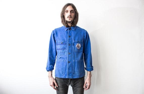 French Work Jacket 70s . Chore Jacket Retro Workw… - image 6