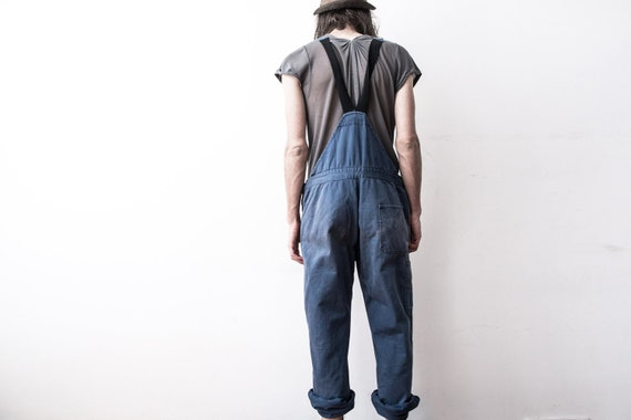 Herringbone Work dungarees 60s Workers Overall Co… - image 9