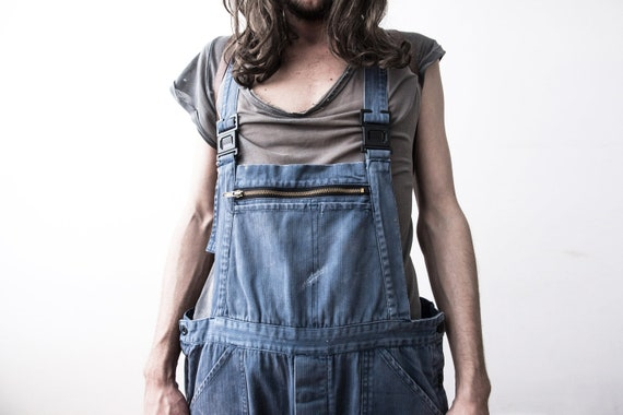 Herringbone Work dungarees 60s Workers Overall Co… - image 7