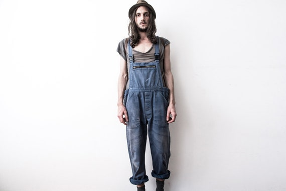 Herringbone Work dungarees 60s Workers Overall Co… - image 2