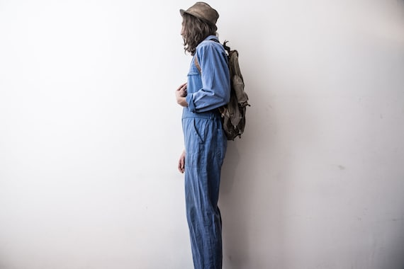 RESERVED___Do pas acheter travail des Français des travail années 70 de salopette travailleurs dans l'ensemble. Vêtements de travail combinaison Factoy combinaison barboteuse vieilli vieux Bleu De Travail Moleskine 8fcfa3