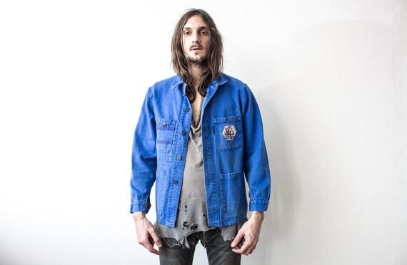 French Work Jacket 70s . Chore Jacket Retro Workw… - image 5