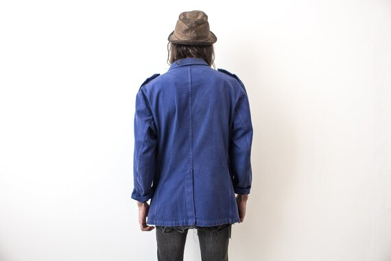 French Fireman Jacket 80s Workwear Workers Jacket… - image 8