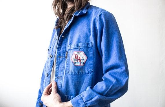 French Work Jacket 70s . Chore Jacket Retro Workw… - image 4