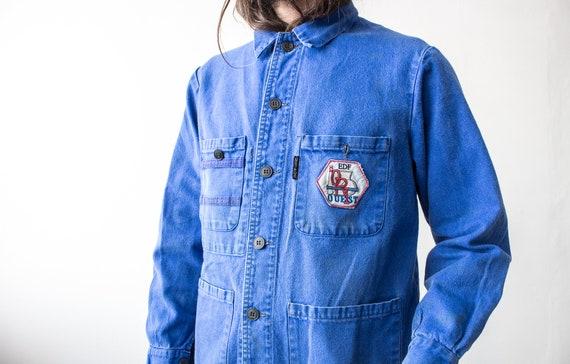 French Work Jacket 70s . Chore Jacket Retro Workw… - image 8