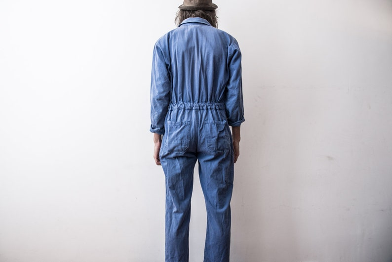 42e59a99122e French Work Jumpsuit 70s Workers Overall . Coverall Workwear