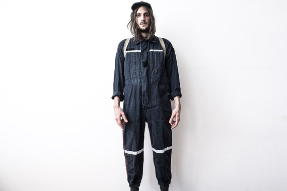French Work Jumpsuit 80s Coverall WorkWear Workers