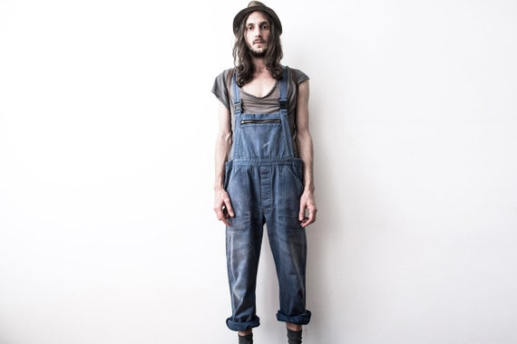 Herringbone Work dungarees 60s Workers Overall Co… - image 6