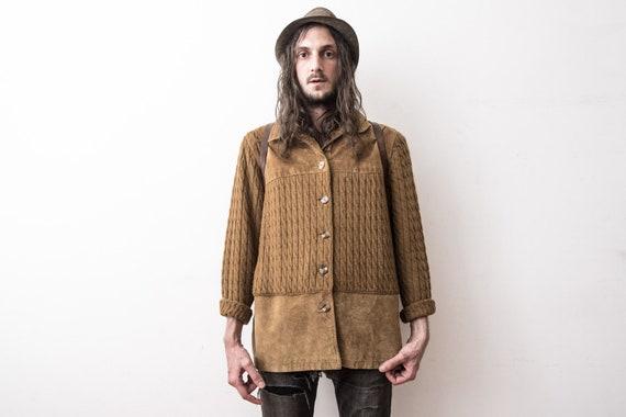 Wool suede Jacket 70s Retro Hippie Jacket Boho Car
