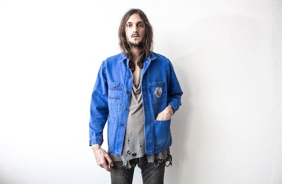 French Work Jacket 70s . Chore Jacket Retro Workw… - image 3