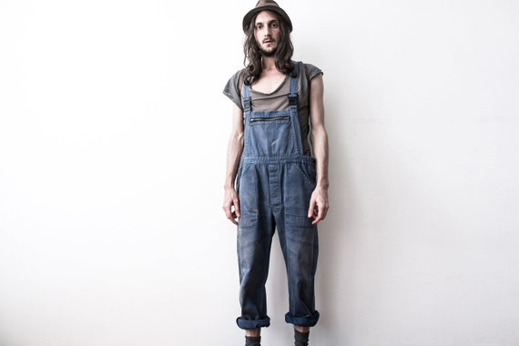 Herringbone Work dungarees 60s Workers Overall Co… - image 8