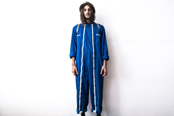 French Work Jumpsuit 80s Coverall Workers Overall