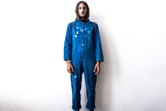 French work Jumpsuit Painter Coverall 80s Rugged C