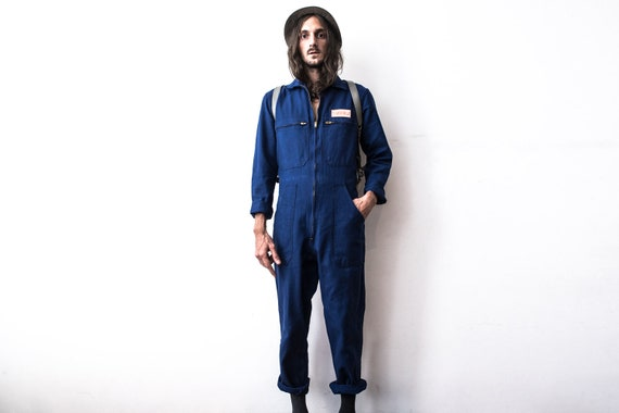 French Work Jumpsuit 80s Work Coverall Overall Fre