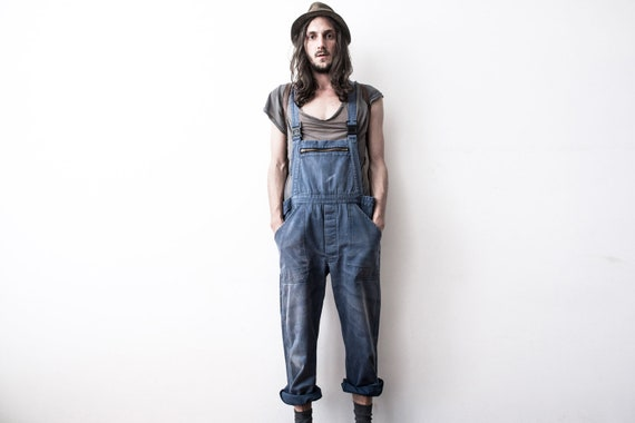 Herringbone Work dungarees 60s Workers Overall Co… - image 5