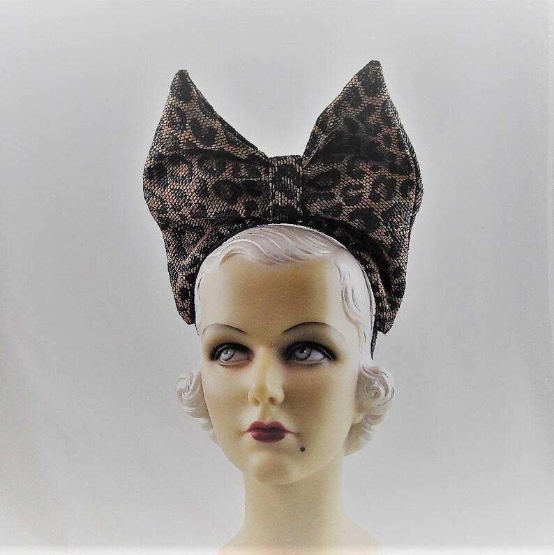 9804e297736a4 Womens Hats 19 Headband Fascinator Headpiece Black Gold Denim