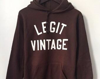 legit vintage X russell hoodie mens size medium