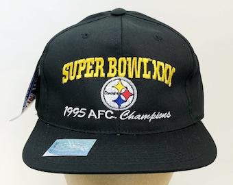 4ffeecafd vintage pittsburgh steelers super bowl XXX 1995 AFC champions snapback hat  headmaster deadstock NWT adult osfa
