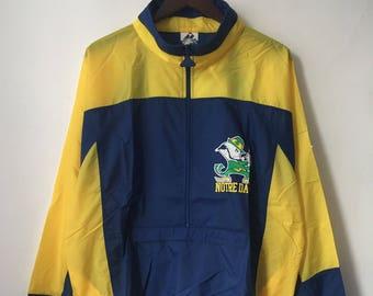 vintage notre dame fighting irish apex one windbreaker jacket mens size XL deadstock NWT 90s