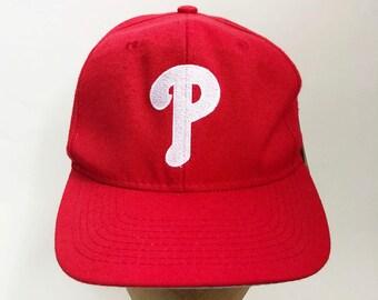 2887539265f77 vintage philadelphia phillies snapback hat  1 apparel deadstock NWT adult  OSFA 90s