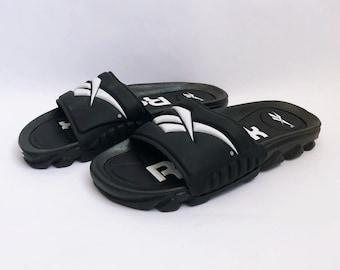 14bdde79e3c030 vintage reebok slides sandals mens size 7 deadstock NWOT 90s