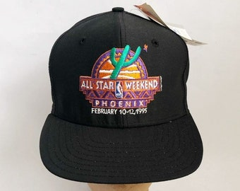 vintage 1995 NBA all-star game snapback hat cap AJD phoenix deadstock NWT  adult osfa made in usa 435865f627d2