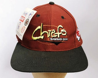 999afc511651a vintage kansas city chiefs snapback hat logo athletic adult OSFA deadstock  NWT 90s