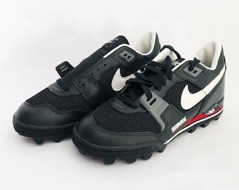 696bf6b70f26 vintage nike air boss shark football cleats shoes mens size 8 deadstock NIB  1994
