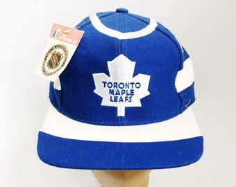 f0c64689 vintage toronto maple leafs snapback hat twins enterprise adult OSFA  deadstock NWT 90s
