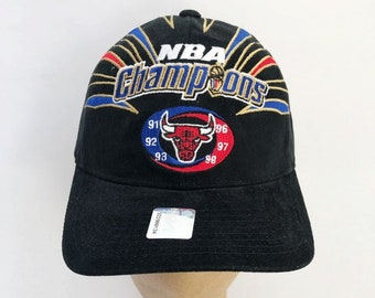 9d0920762ca51 vintage chicago bulls starter 1998 nba finals champions hat cap adult OSFA  deadstock NWT made in USA