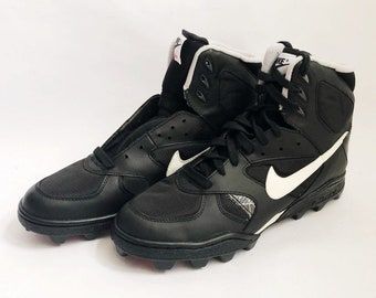 uk availability 56cb5 4083a vintage nike shark extreme high football shoes cleats mens size 13  deadstock NIB 1992