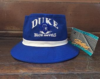 vintage duke blue devils bucket hat eds west adult size medium deadstock  NWT 90s f6ada86d1ce7