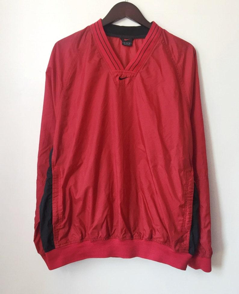 db2127be2 Vintage nike black tag pullover V-neck windbreaker men's | Etsy