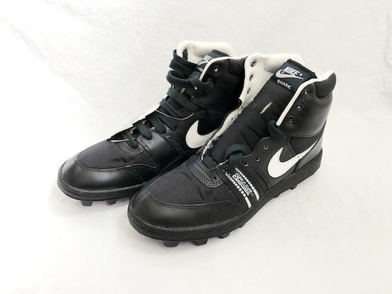 vintage nike shark high football cleats mens size 8 deadstock NIB 1989
