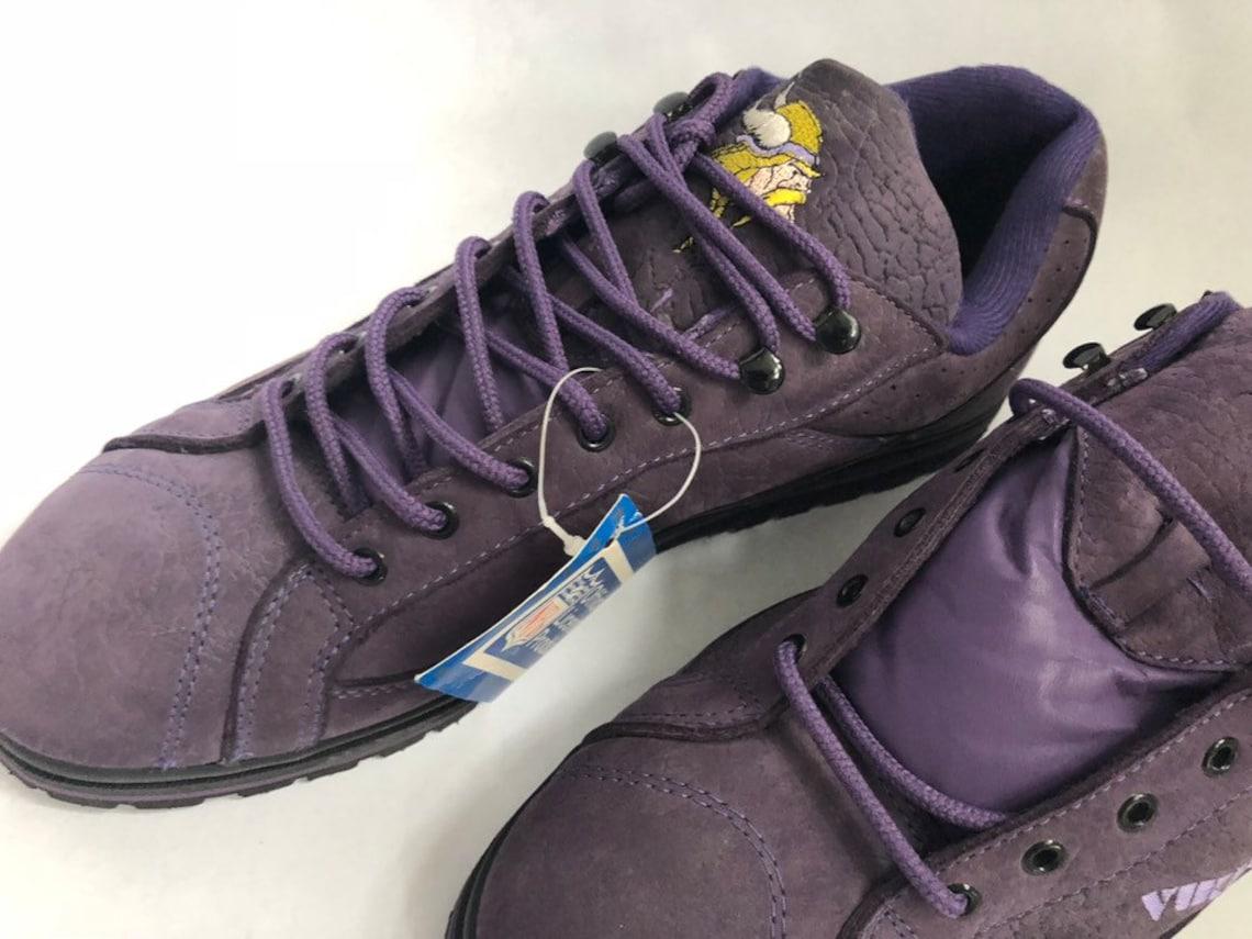 vintage minnesota vikings eastport zapatillas deportivas tamaño 13 stock muerto NIB 90s