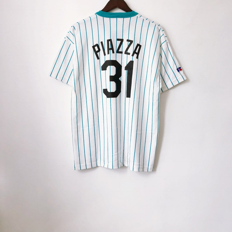 1e45dc645 Vintage mike piazza florida marlins russell athletic henley