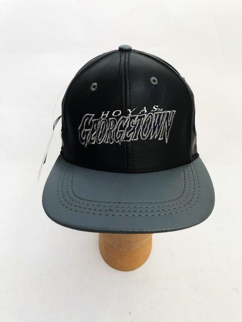 e98b374e6e5 Vintage georgetown hoyas leather snapback hat cap adult OSFA
