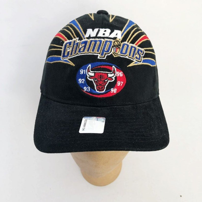 23d38c3fc51 vintage chicago bulls starter 1998 nba finals champions hat