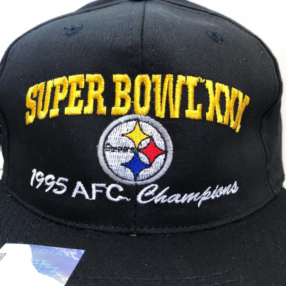 vintage pittsburgh steelers super bowl XXX 1995 AFC champions  e74cb7d48