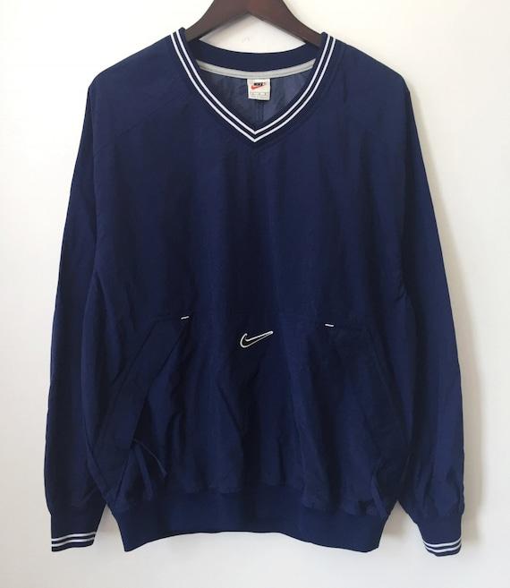 170708822b9 vintage nike white tag pullover V-neck windbreaker mens size   Etsy