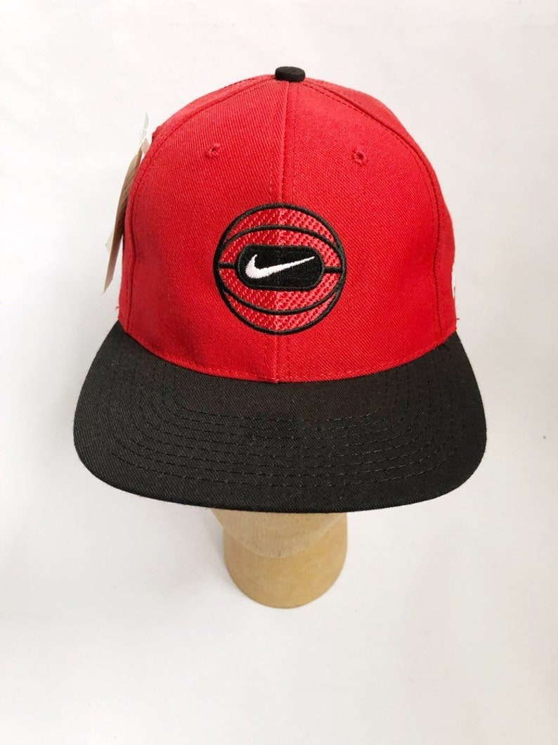 924e2b7a3 vintage nike basketball snapback hat adult OSFA deadstock NWT 90s made in  USA