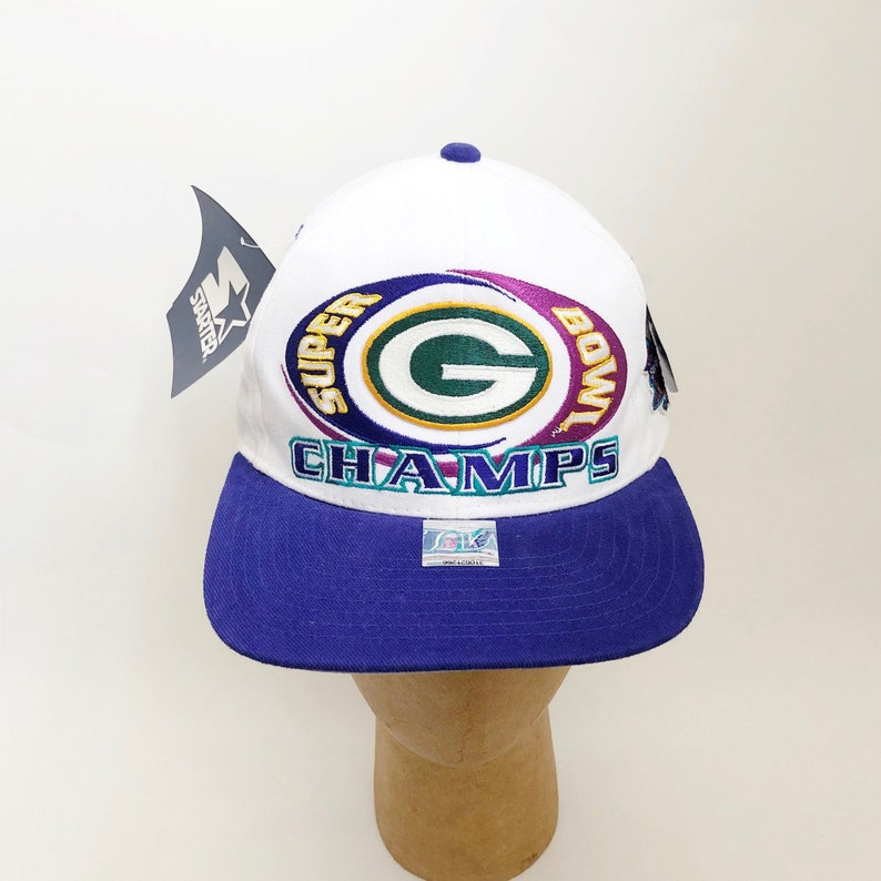 Vintage green bay packers super bowl XXXI snapback hat starter  13b67850c
