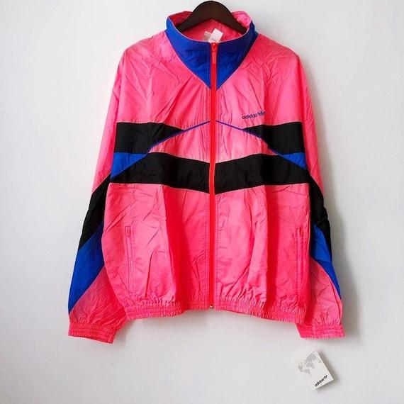 vintage adidas windbreaker jacket mens size XL deadstock NWT 80s
