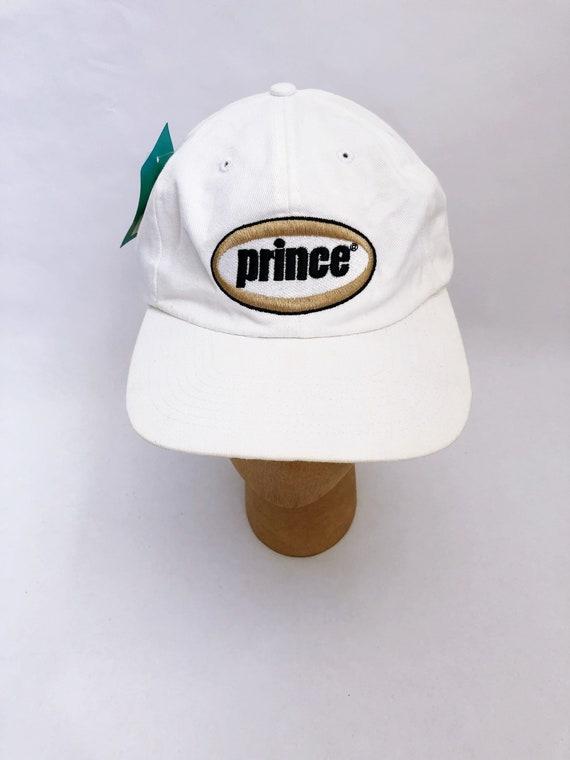 709f076cb4b vintage prince tennis strapback hat adult OSFA deadstock NWT 90s