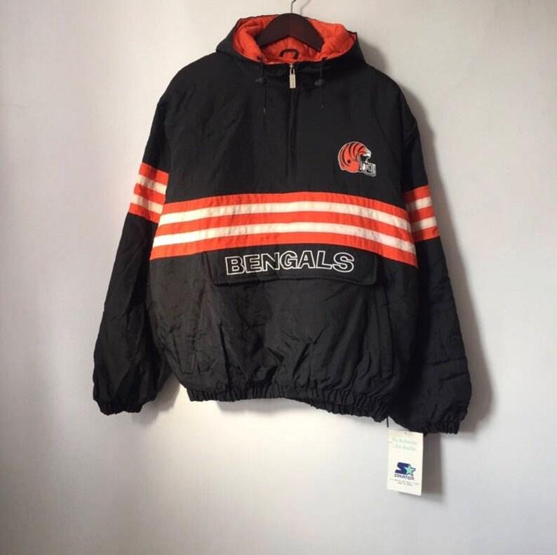 Discount Vintage cincinnati bengals starter jacket mens size large | Etsy