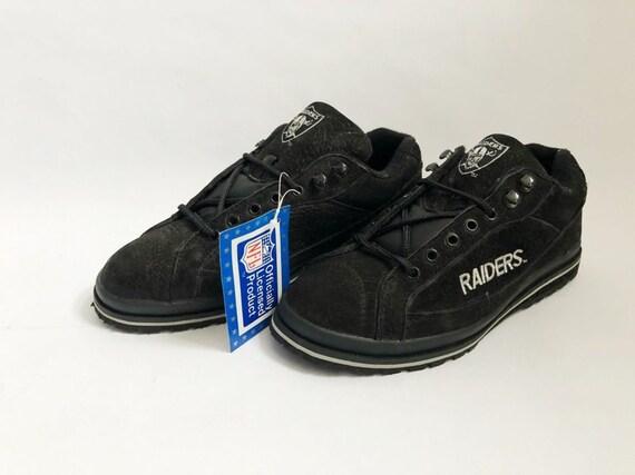 vintage LA raiders eastport sneakers mens size 7.5 deadstock NIB 90s