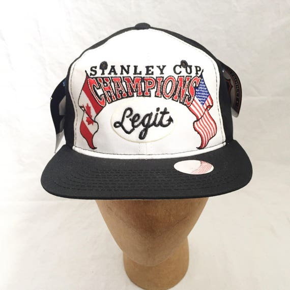 41043875852 legit vintage X starter stanley cup champions snapback hat deadstock NWT  adult OSFA 1995