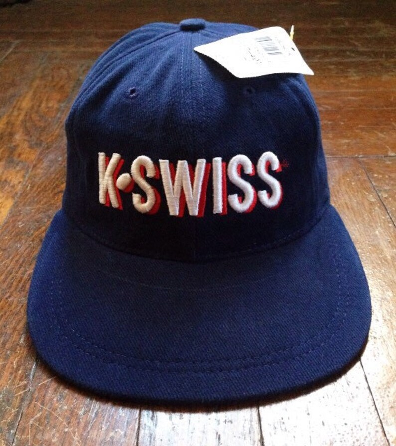 20952518e91 Vintage k-swiss 3-D logo hat adult OSFA deadstock NWT 90s made